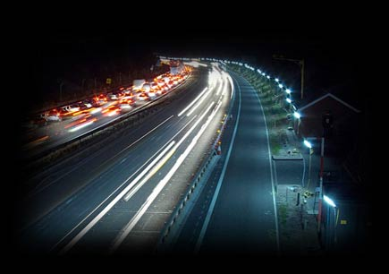 Lighting roadworks at night