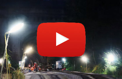 Video of Linklites being used by Network Rail - Box Tunnel Track Renewal