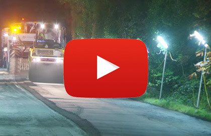 Video of Linklites being used by Stabilised Pavements Ltd - Nights on a Road